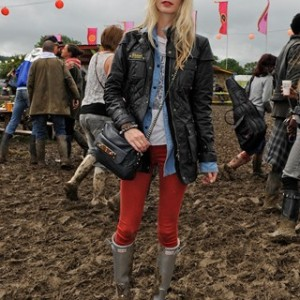 Poppy Delevingne 2011 hunter wellington boots
