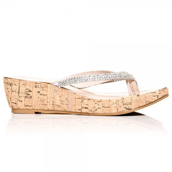 Low wedge flip flops