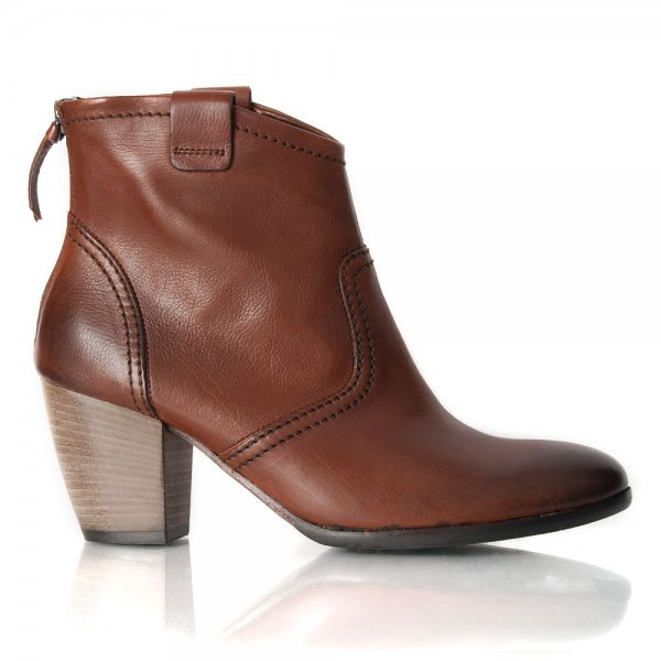 Beautiful Blue Inc Woman Womens Dark Tan Double Buckle Zip Up Ankle Boots