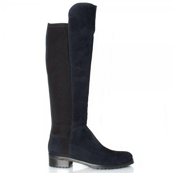 Innovative River Island Womens Navy Croceffect Panel Knee High Boots  Shopcade