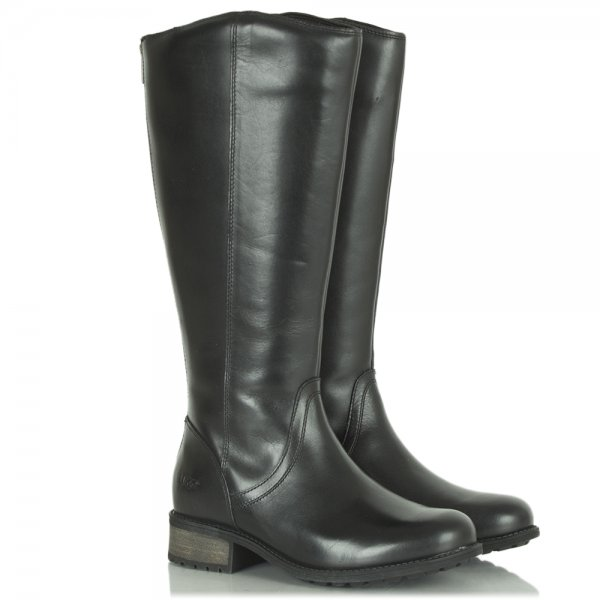 ugg australia seldon black leather knee high boot