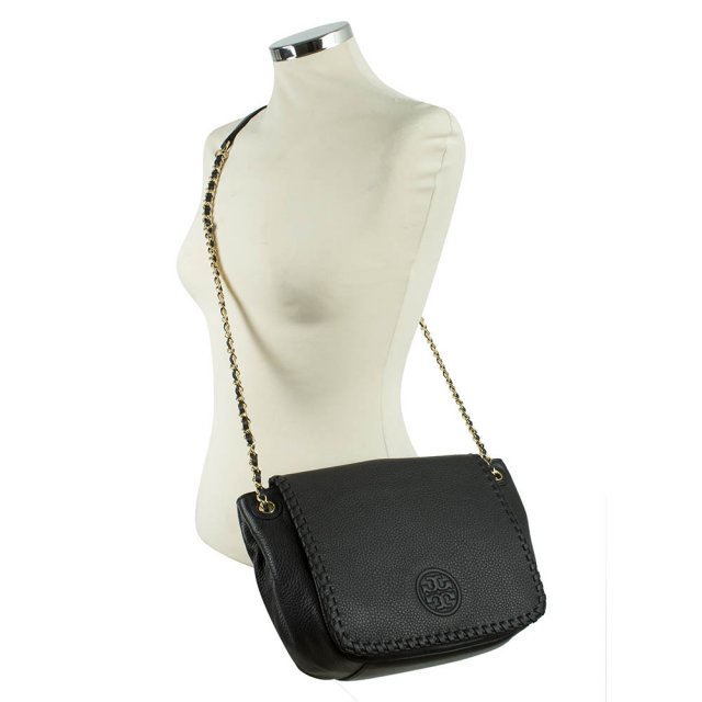 tory burch marion small flap leather shoulder bag