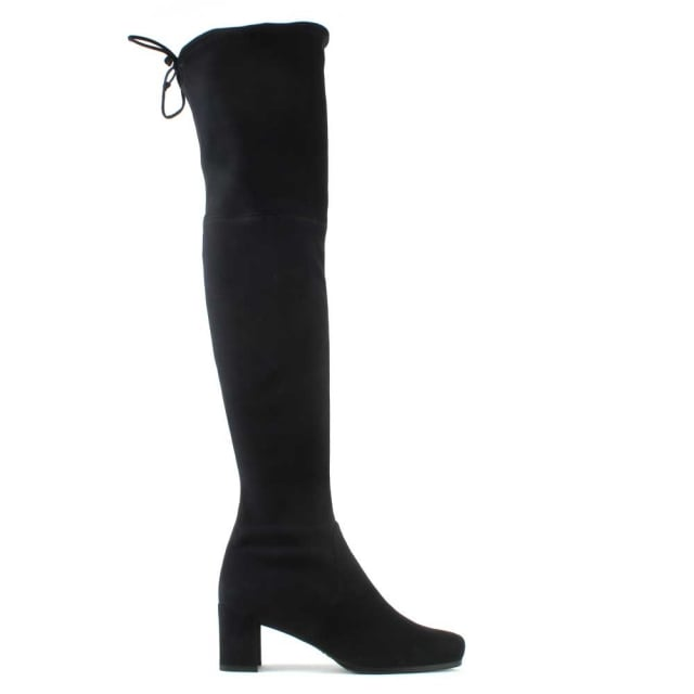 Stuart Weitzman Hinterland Navy Suede Block Heel Over The Knee Boot