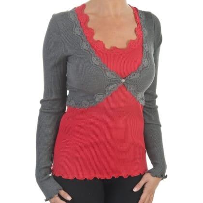 Rosemunde Grey Women's Silky Crop Cardy