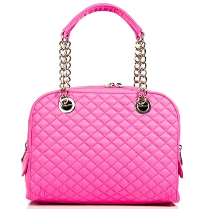 D&G SWALEDALE Pink Fabric Womens Quilted Shoulder Bag