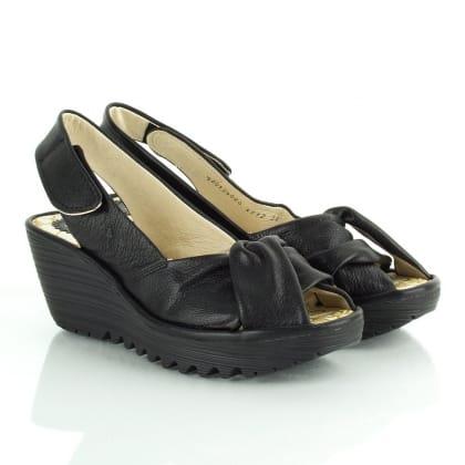 Black Yakin Women's Mid<br /> Wedge Sandal