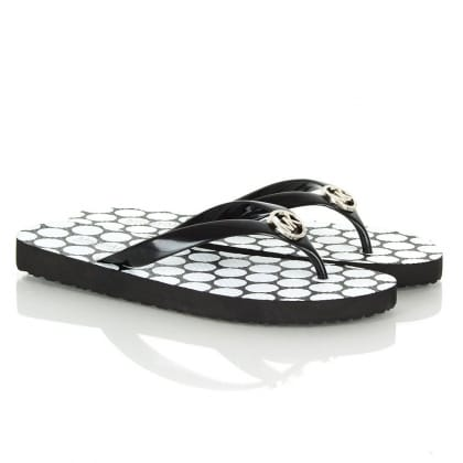 Michael Kors Spot Flip Flop Black Sandal
