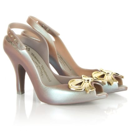 Ladydragon Bow Purple Slingback Shoe