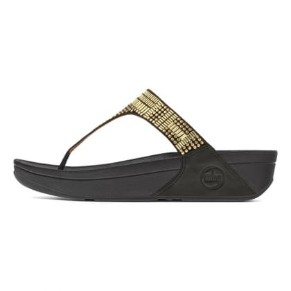FitFlop AZTEC CHADA™ Metallic Studded Leather<br /> Flip Flop