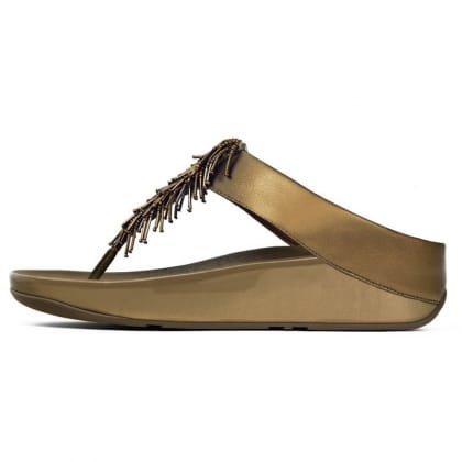 FitFlop™ Cha<br /> Cha Bronze Beaded Women's Flip Flop