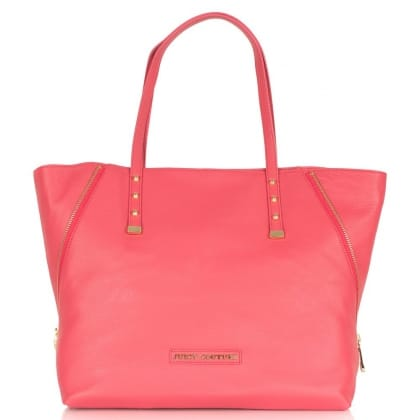 Pink Leather Winged Large<br /> Tote Bag