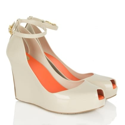 Beige Patchuli Womens<br /> Ankle Strap Wedge