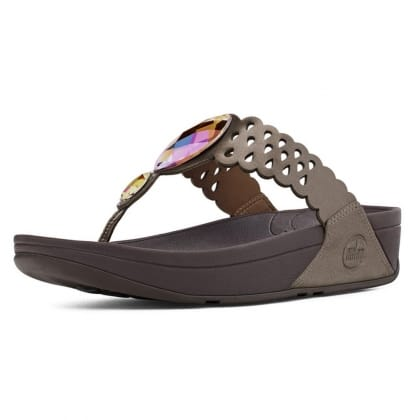 FitFlop<br /> Bijoo Fit Bronze Metallic Leather Flip Flop