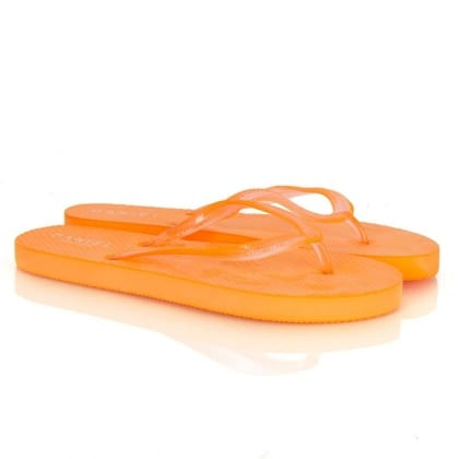 Orange Flat Toe Post Women's Upkeep Sandals