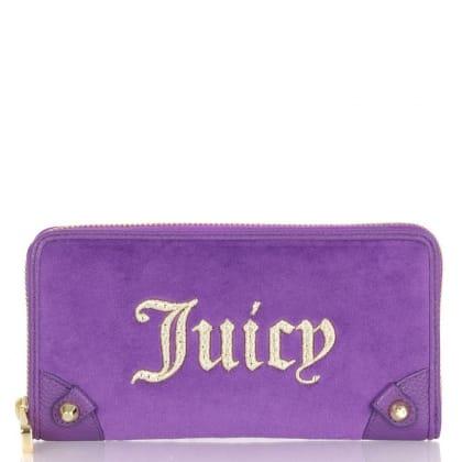 Purple Ornate Zip Women's<br /> Wallet