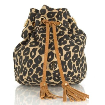 Leopard Malibu Creek Mini<br /> Bucket Bag