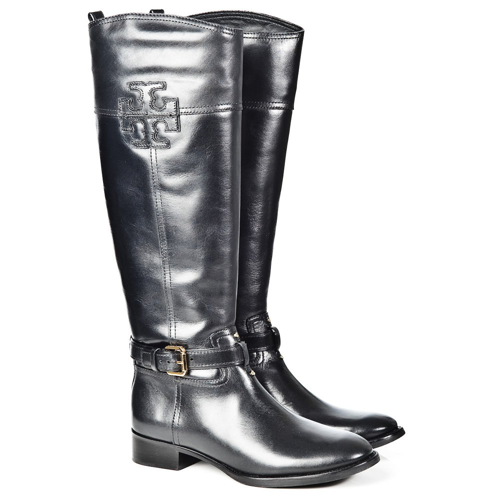 Beautiful Black Leather Riding Boots Women39s Size 65  7 By Doubleprints