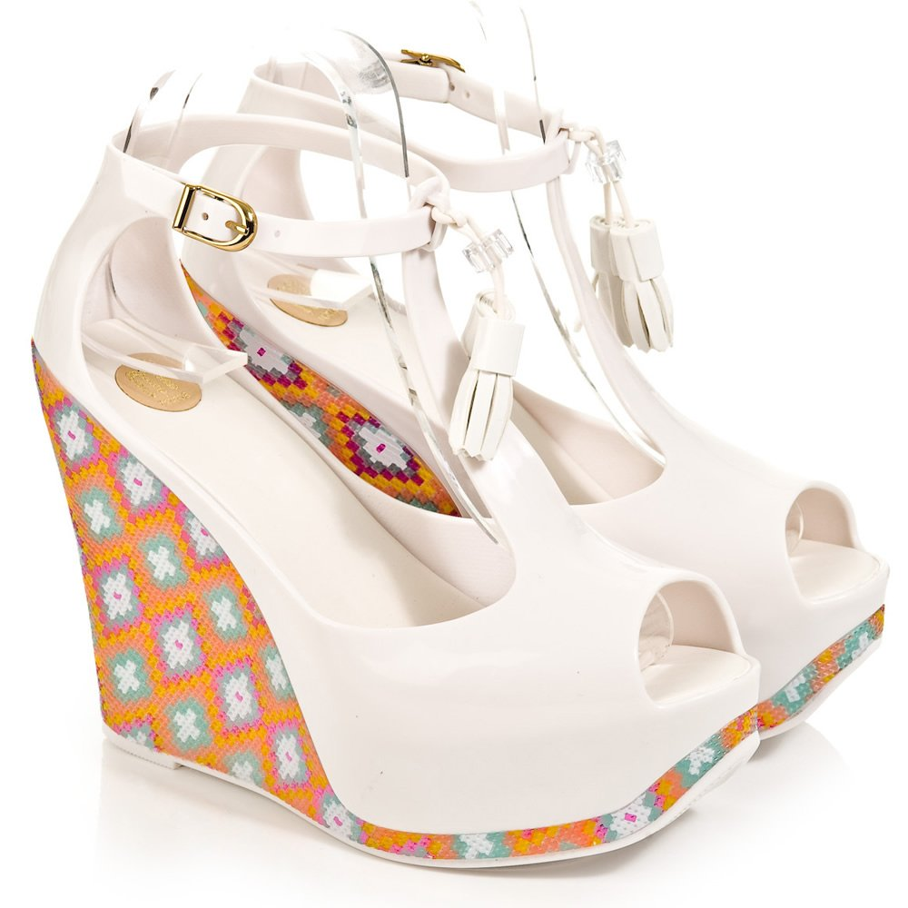 Melissa White Peace Wedge Women S High Wedge Platform Sandal