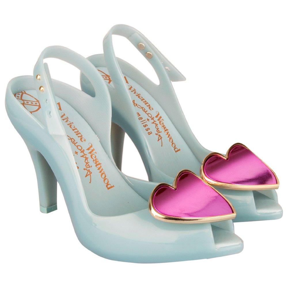 vivienne westwood blue ladydragon womens peep toe shoe