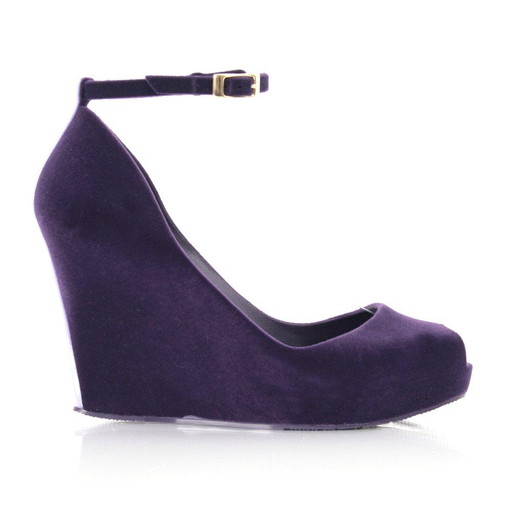 melissa purple patchuli women�s wedge shoe