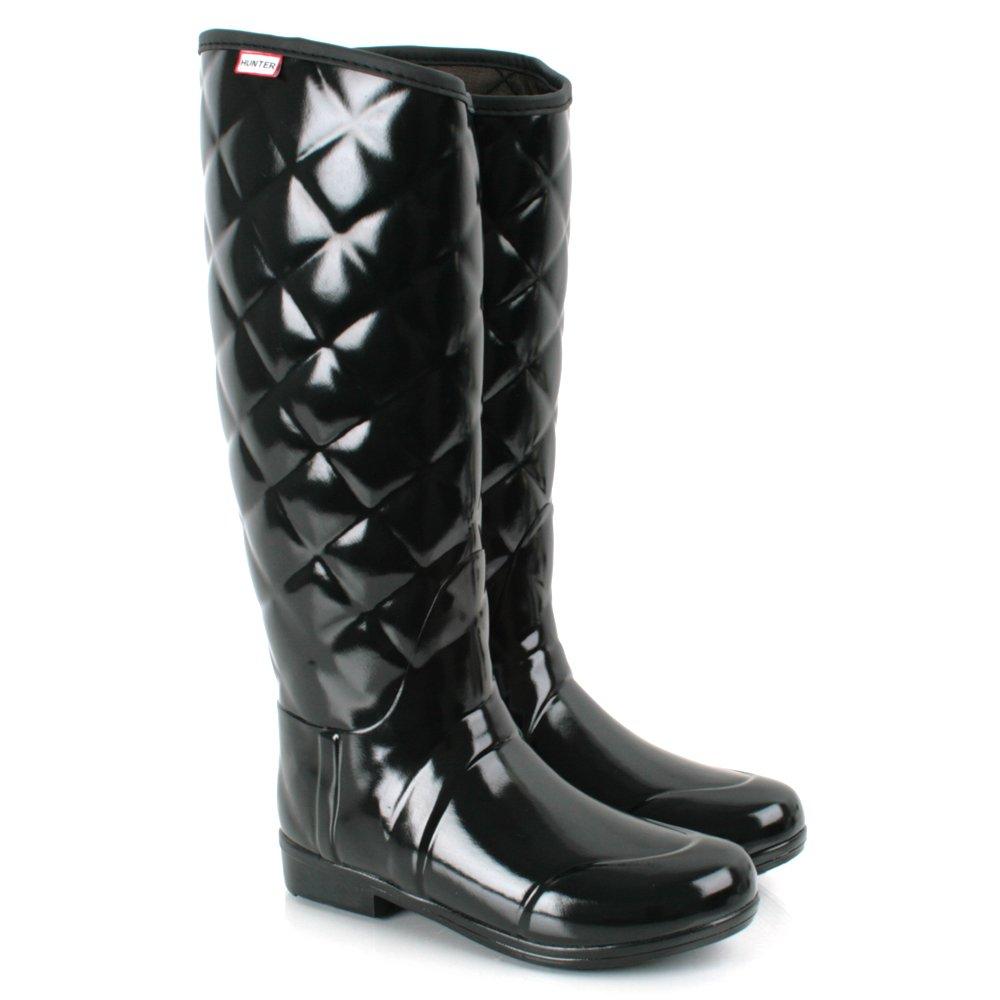 Hunter Black Regent Savoy Women S Wellington Boot