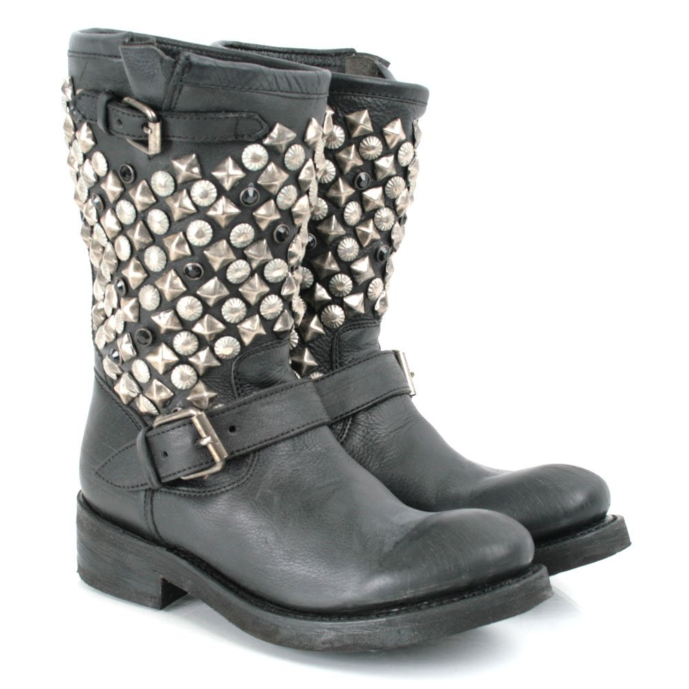 Ash Black Leather TOKYO Womens Biker Boot - Ash from ...