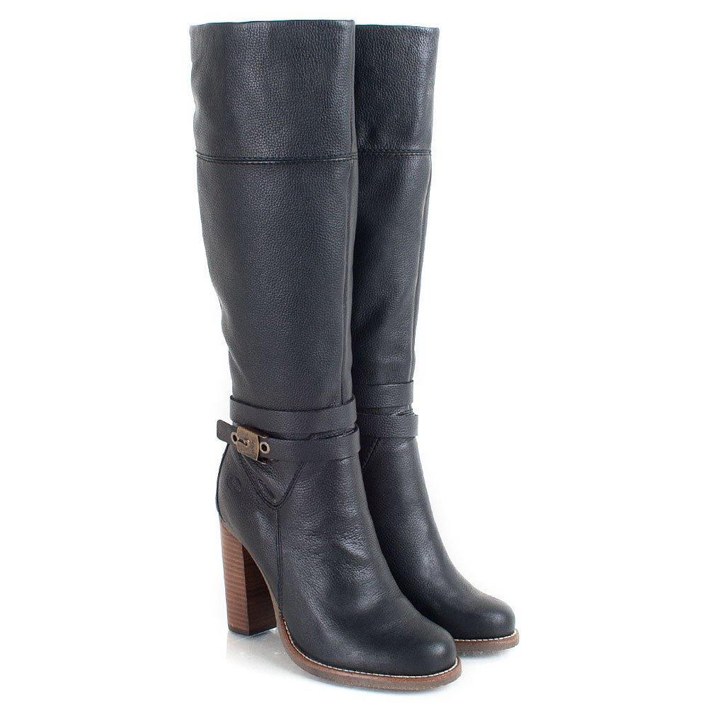 scholl black therisa women s knee high boot