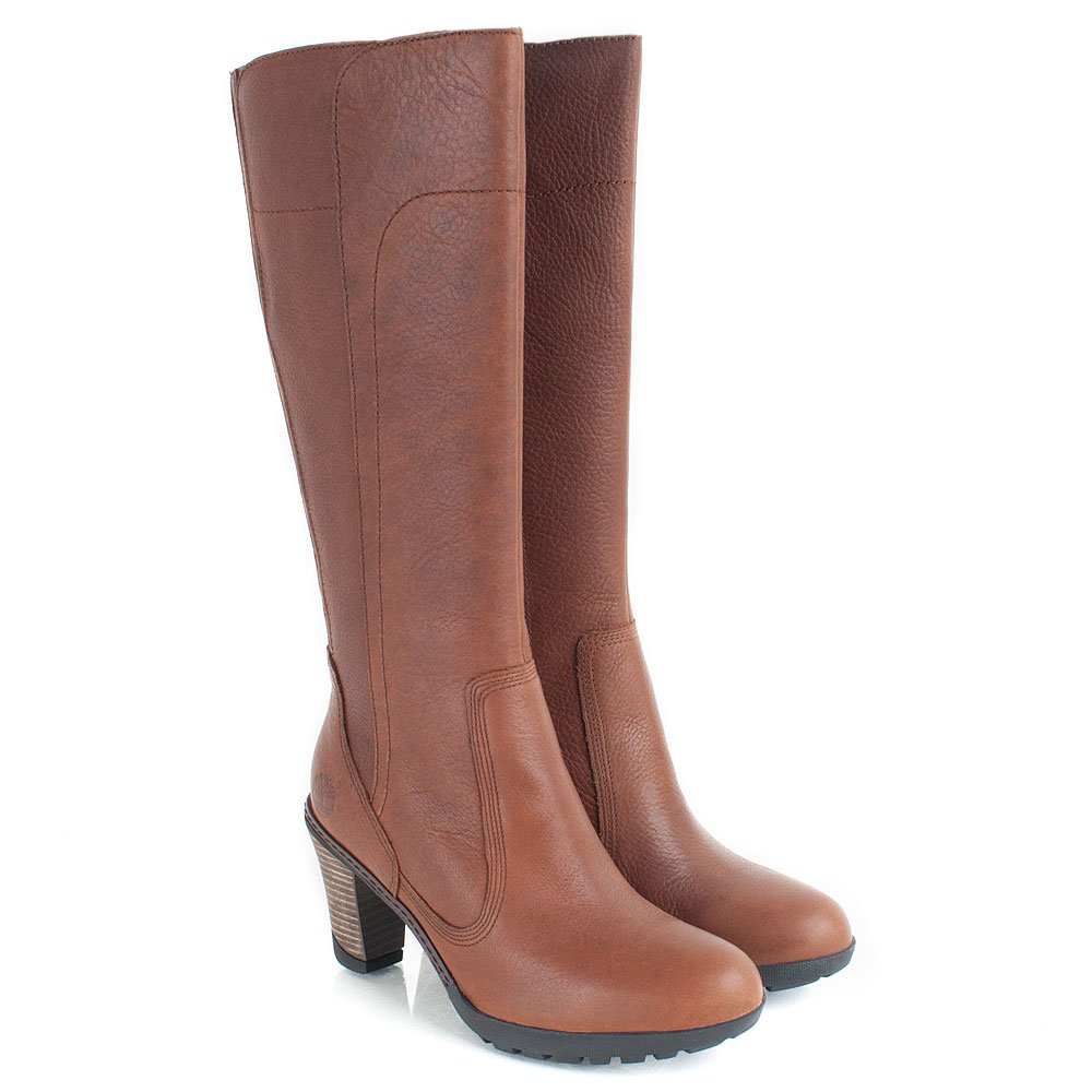 Innovative   Timberland Medium Brown Stratham Heights Tall Womens Boot