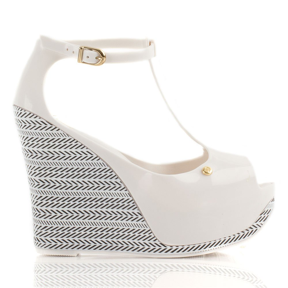 Melissa White Peace Wedge Iii Women S Wedge Sandal