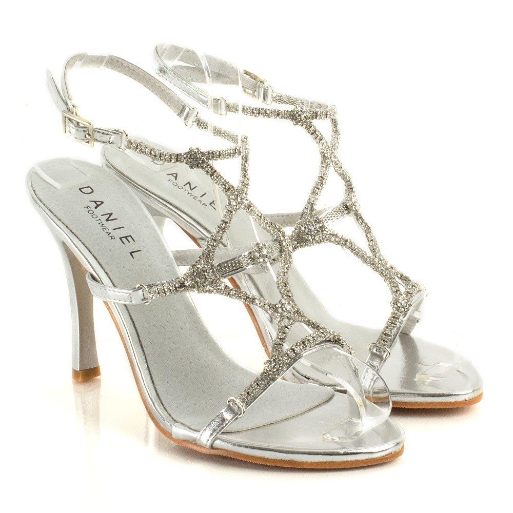 Diamante Heels Silver