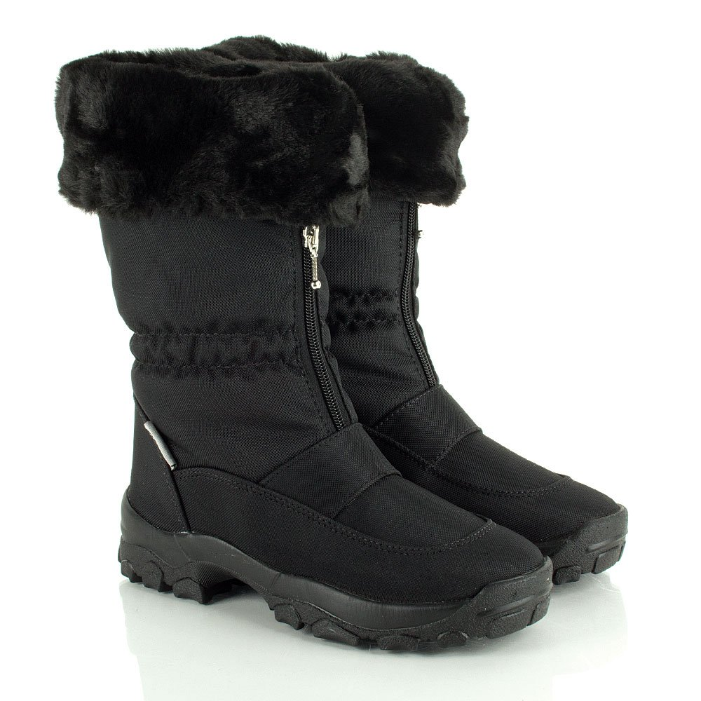 Black Winter Boots For Women - Cr Boot