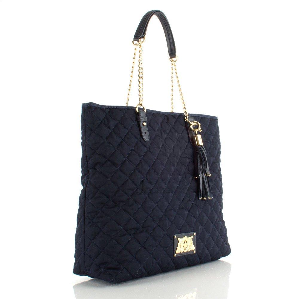 juicy couture navy tomi tote women 39 s shoulder bag. Black Bedroom Furniture Sets. Home Design Ideas