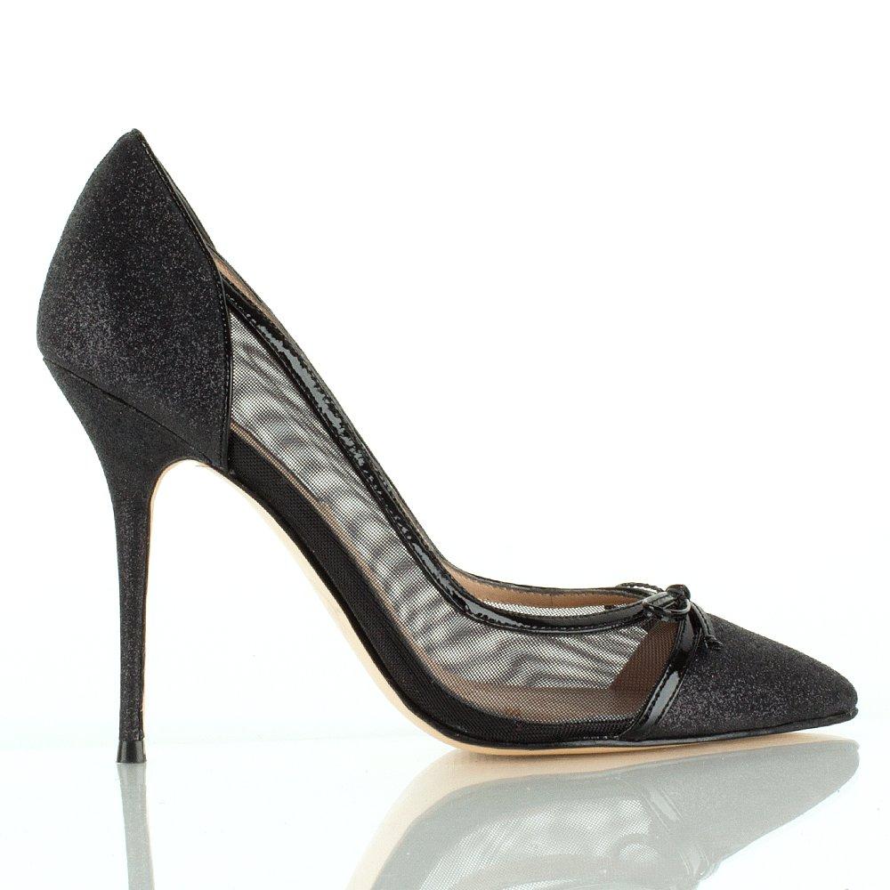 choi tuberose black glitter women s court shoe