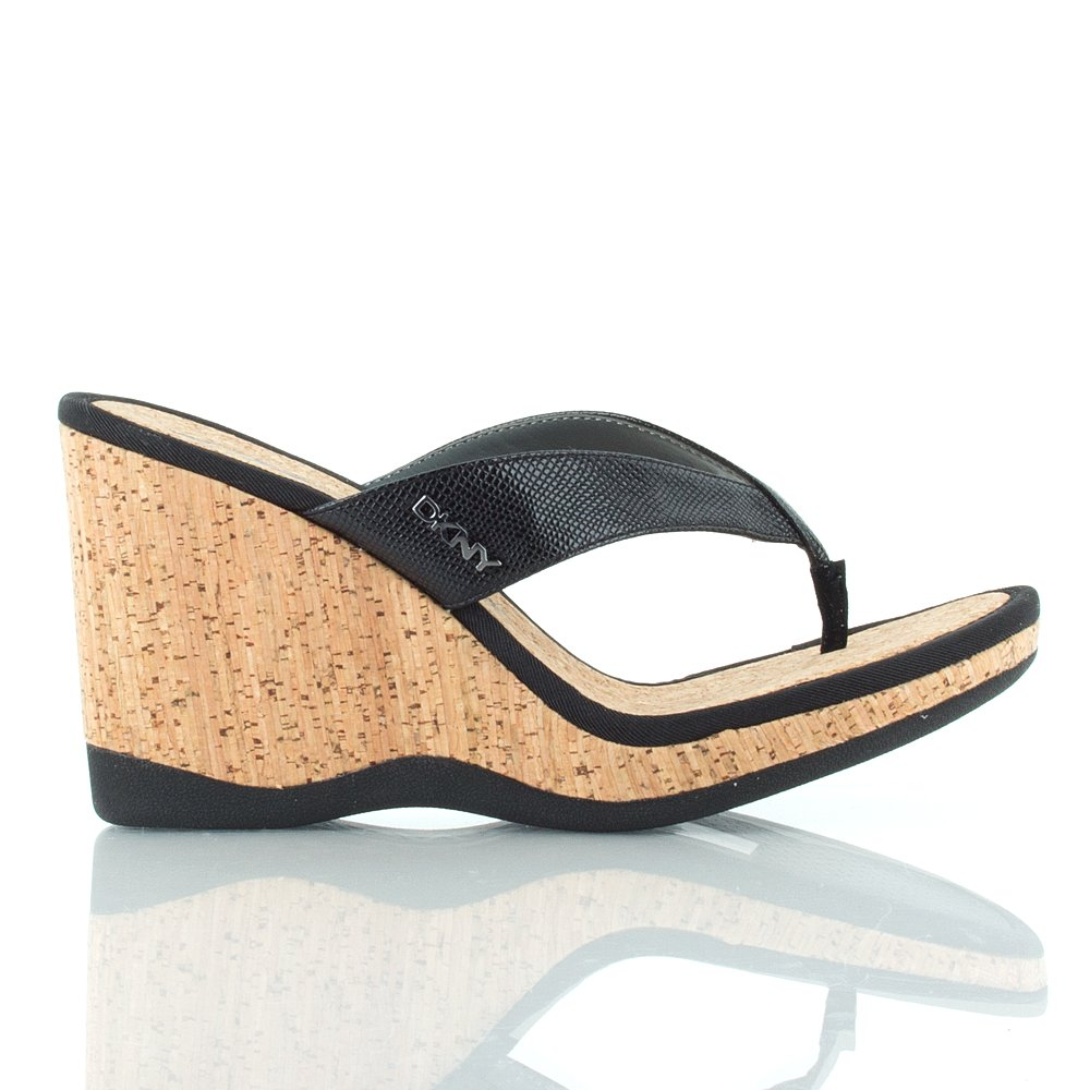 dkny black 23136110 women�s wedge sandal