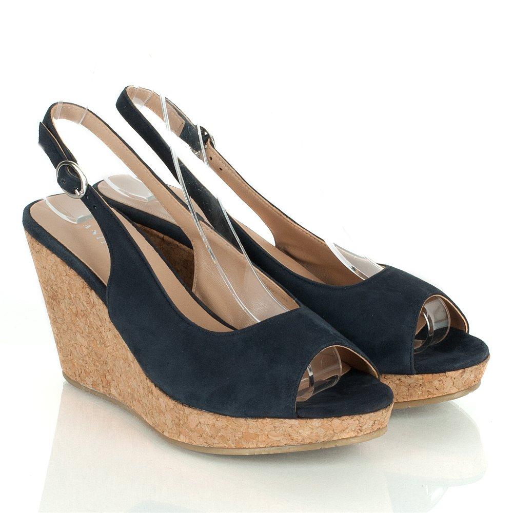 Vanilla Moon Black Mariee Women S Wedge Sandal