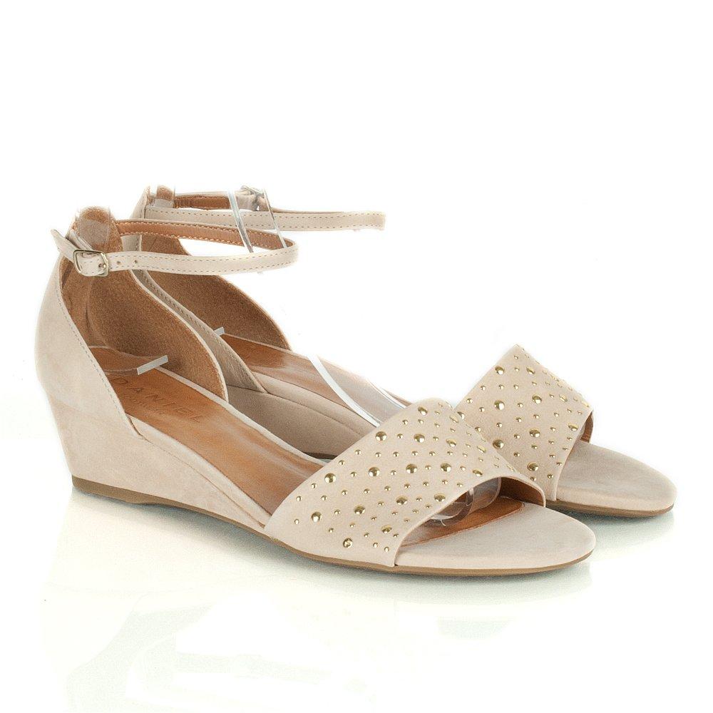 Daniel Beige Freddie Women S Low Wedge Sandal