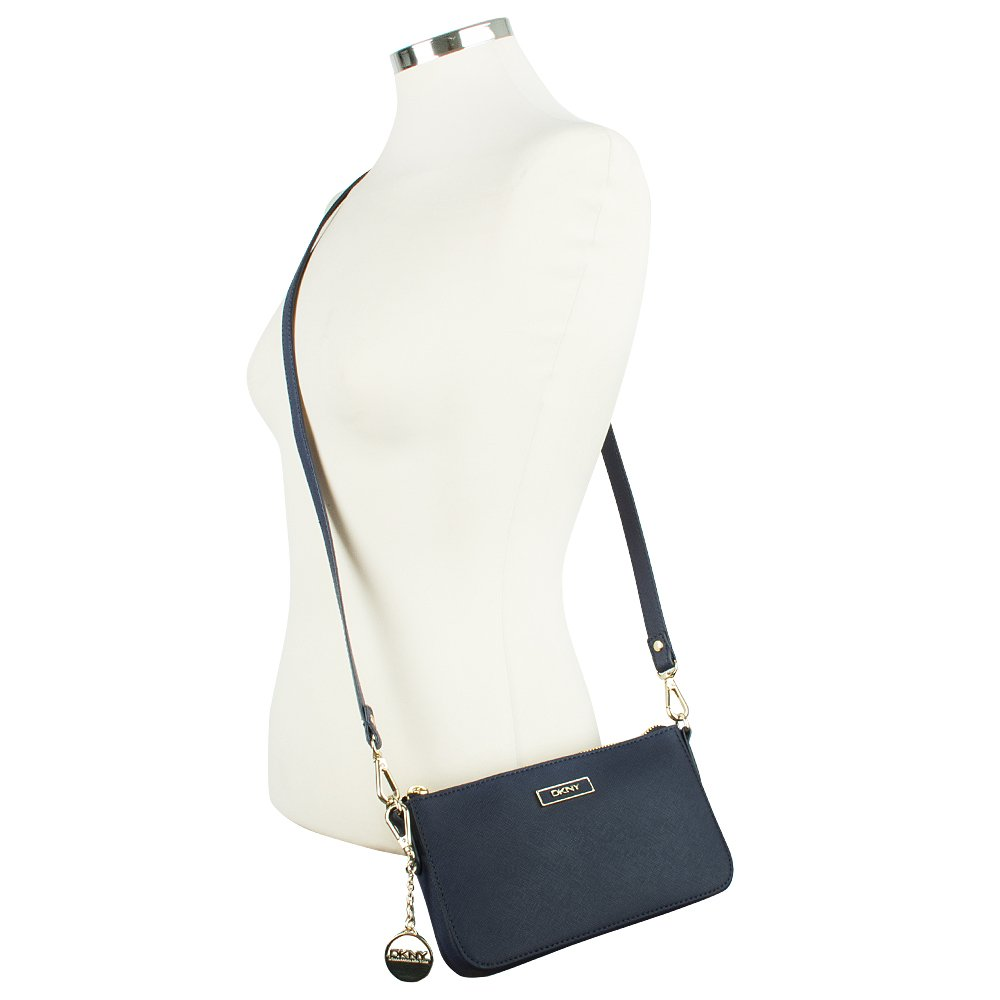 dkny navy saffiano leather small women s crossbody bag