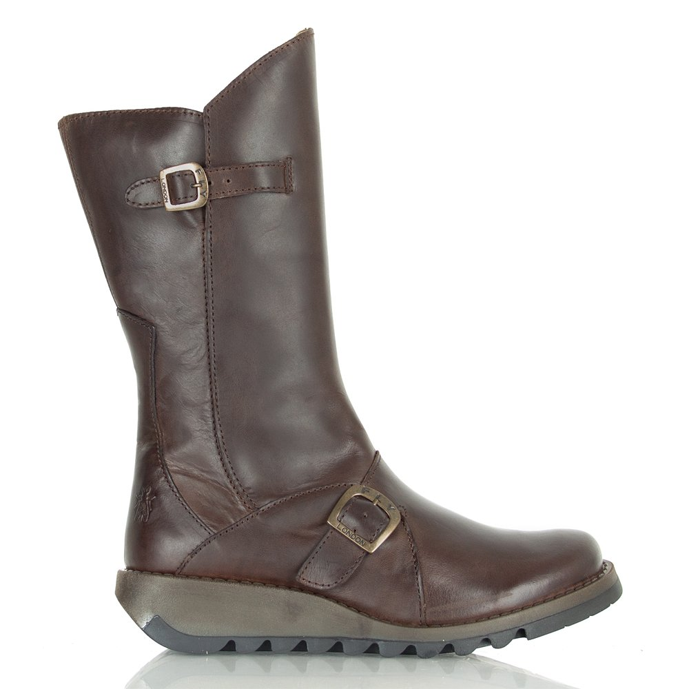 fly brown mes 2 s flat boot