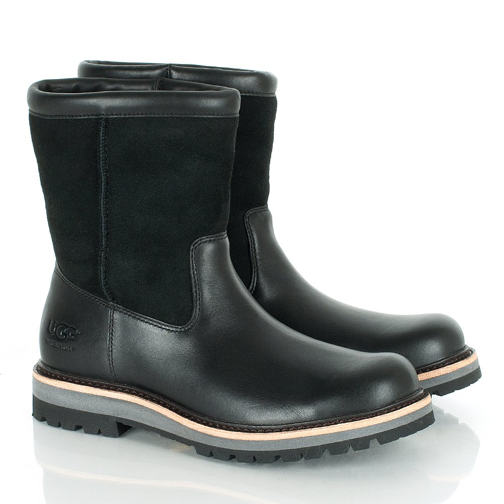 ugg 174 s poison black leather ankle boot