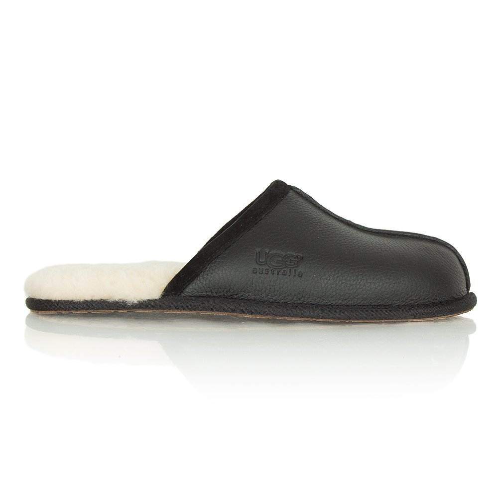 black leather mens ugg slippers