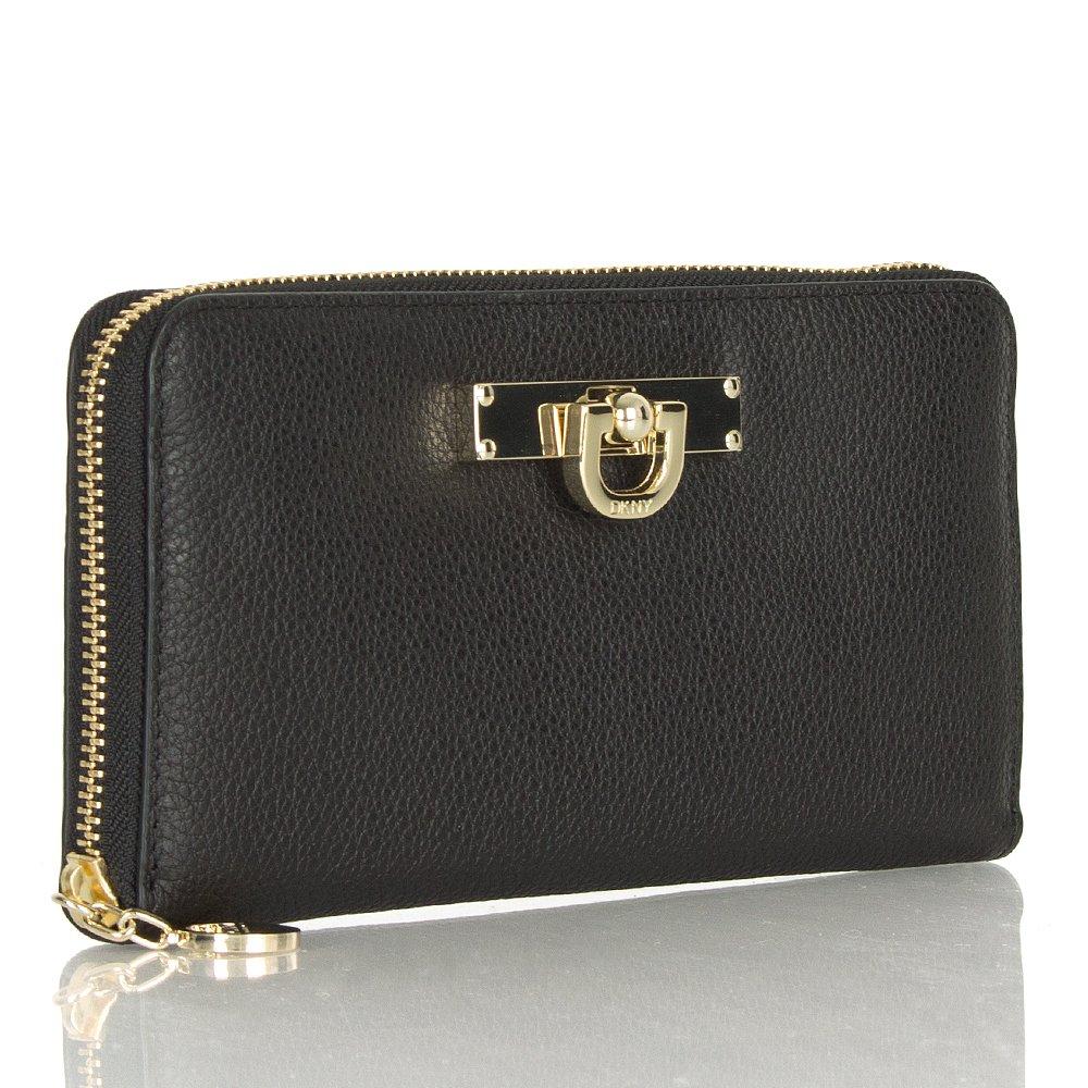 Dkny Leather Wallet in Black | Lyst |Dkny Wallet