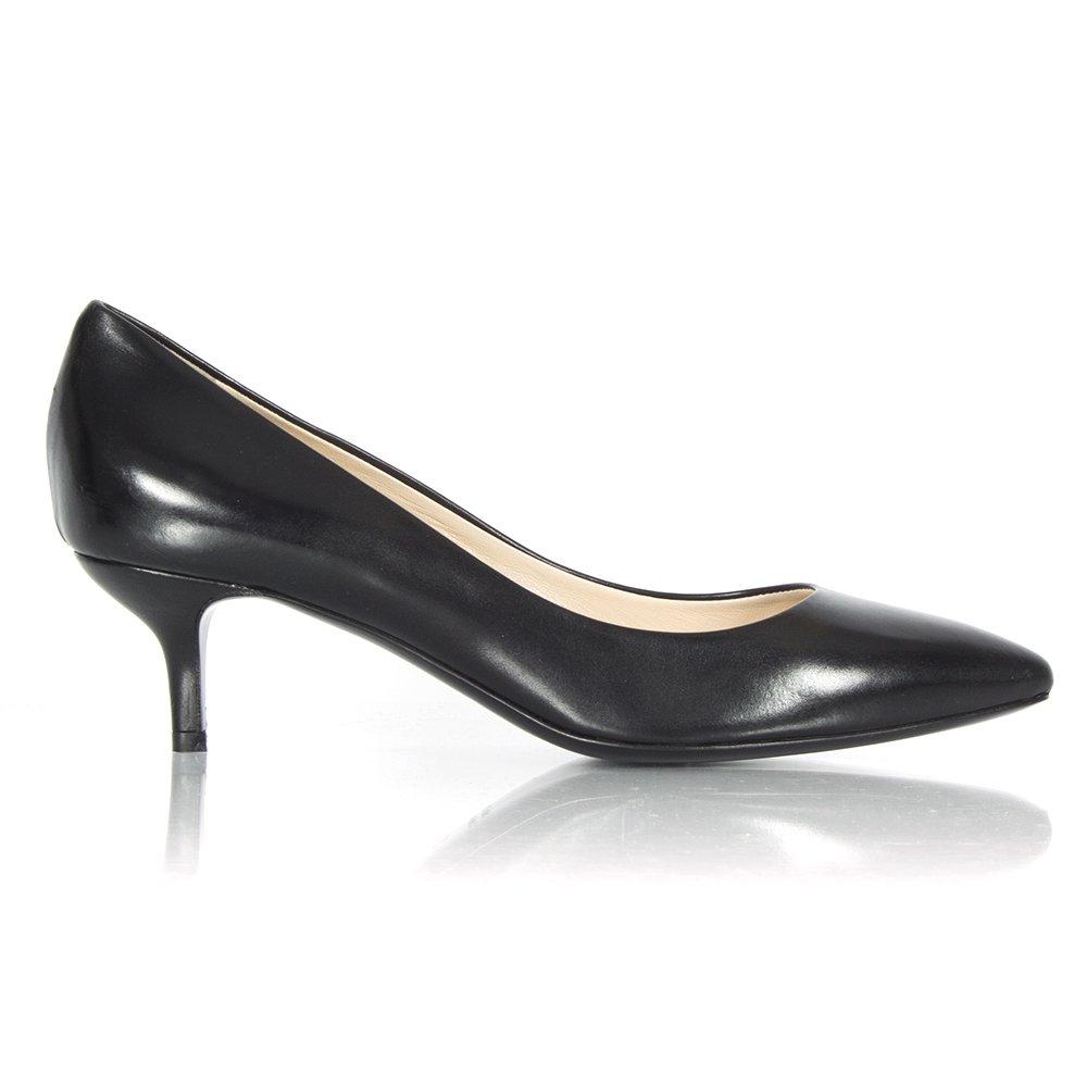 larizia ravol black leather court shoe