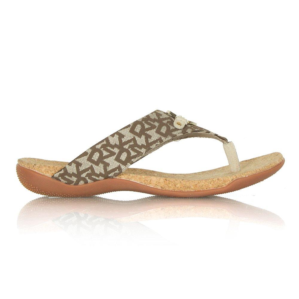 dkny taupe fabric womens cork bianca sandal