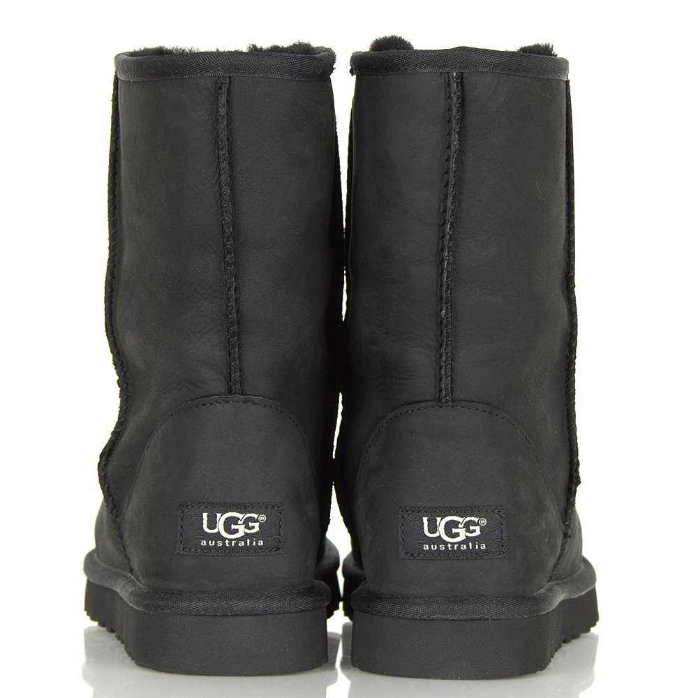 UGG® Black Classic Short Leather Boot