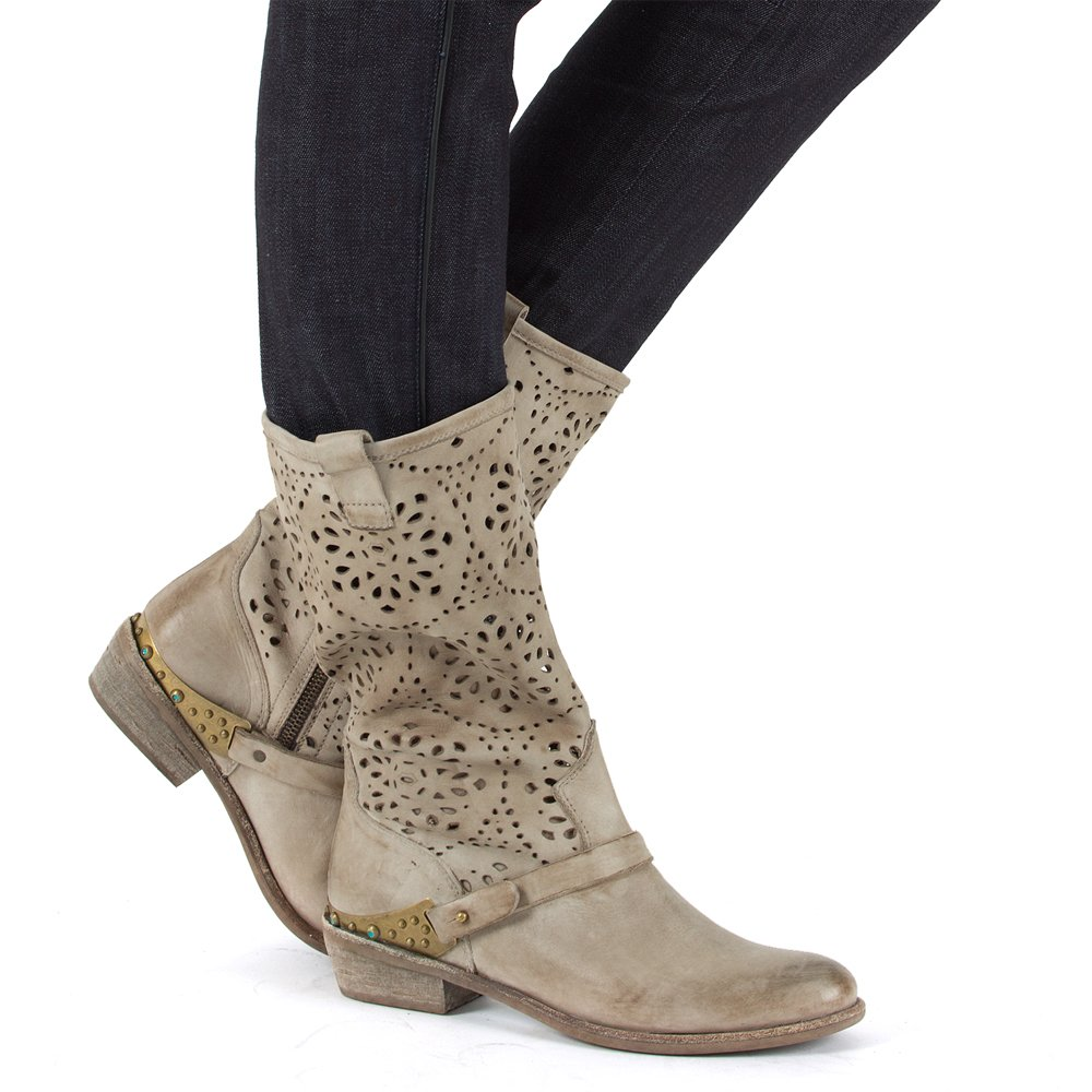 daniel hethan taupe leather slouch calf boot