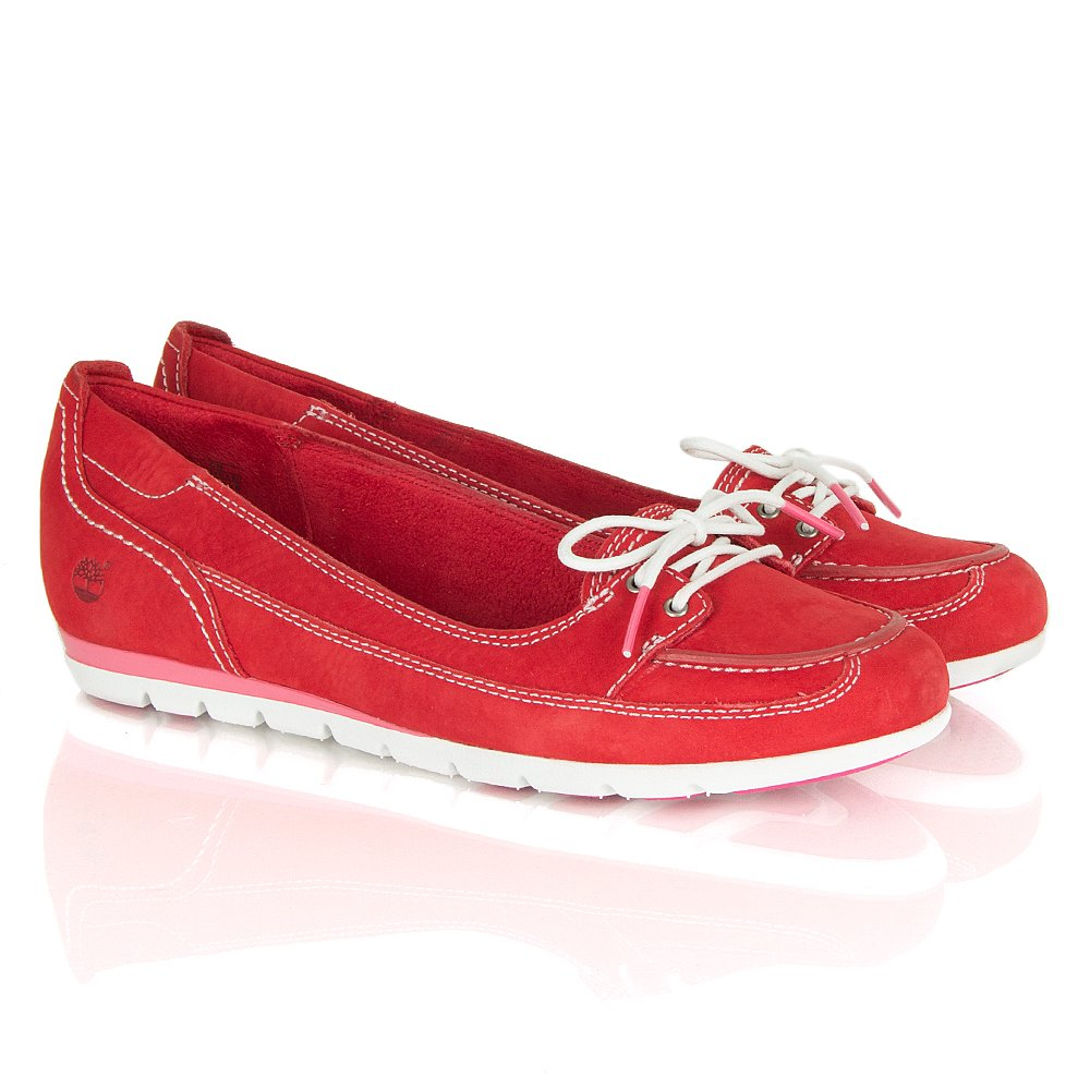 Timberland Red Earthkeepers® Harborside Women's Flat Boat Shoe