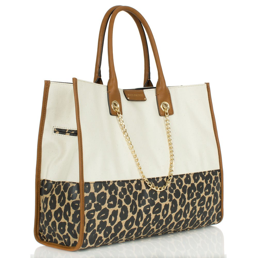 juicy couture multi leopard print laurel tote bag. Black Bedroom Furniture Sets. Home Design Ideas
