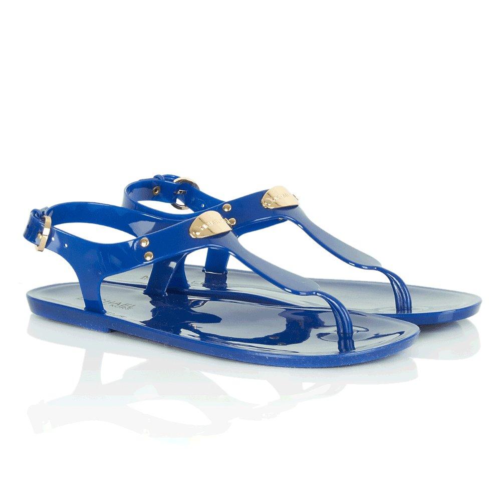 Michael Kors Blue Logo Plate Jelly Women S Sandal