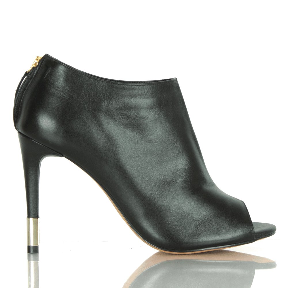 daniel black leather swoon s peep toe ankle boot