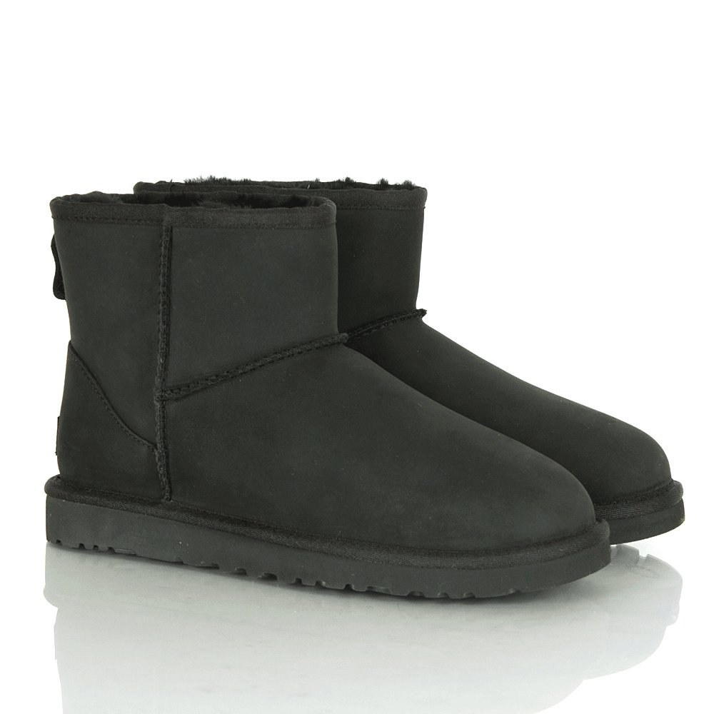 ugg 174 black classic mini leather s boot